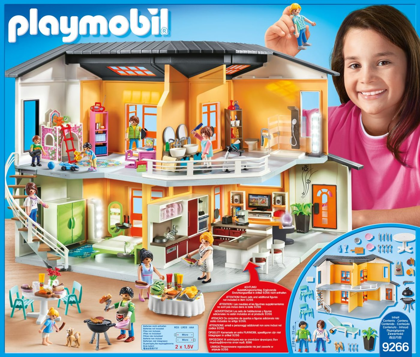 Playmobil city life maison moderne 9266 migros for Agrandissement maison moderne playmobil
