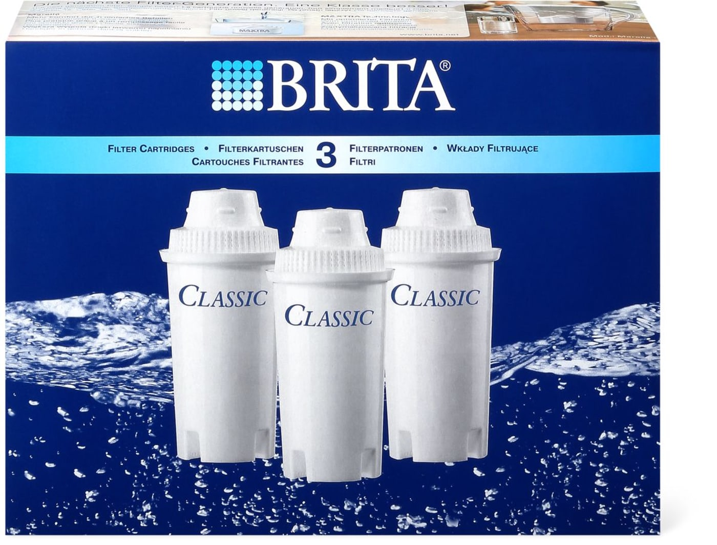brita brita classic cartouches pour filtre eau migros. Black Bedroom Furniture Sets. Home Design Ideas