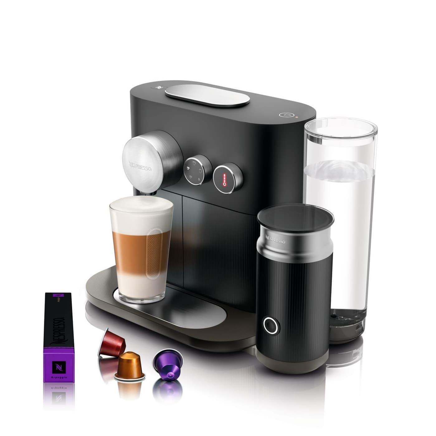 nespresso expert milk krups black migros. Black Bedroom Furniture Sets. Home Design Ideas