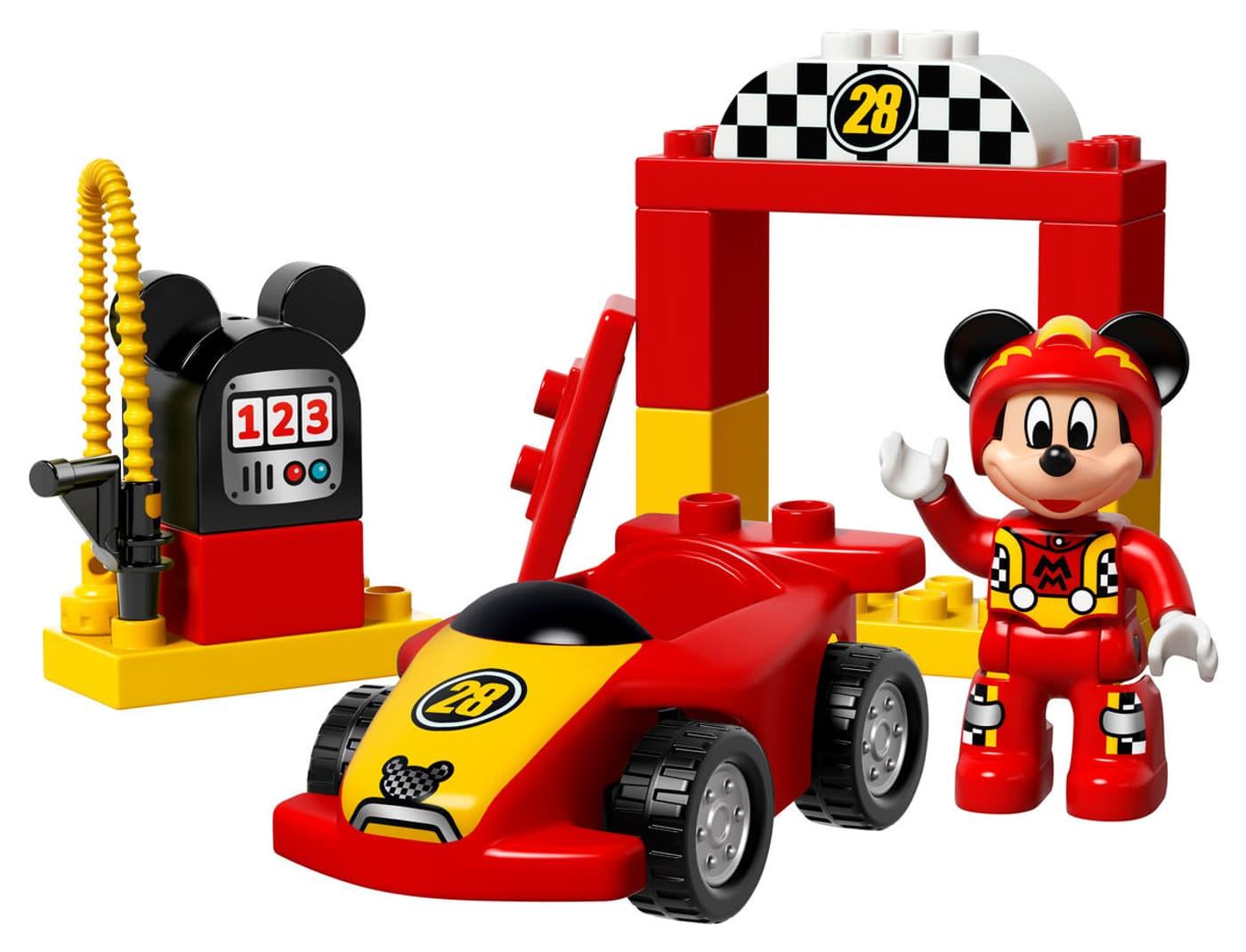 lego duplo la voiture de course de mickey 10843 migros. Black Bedroom Furniture Sets. Home Design Ideas