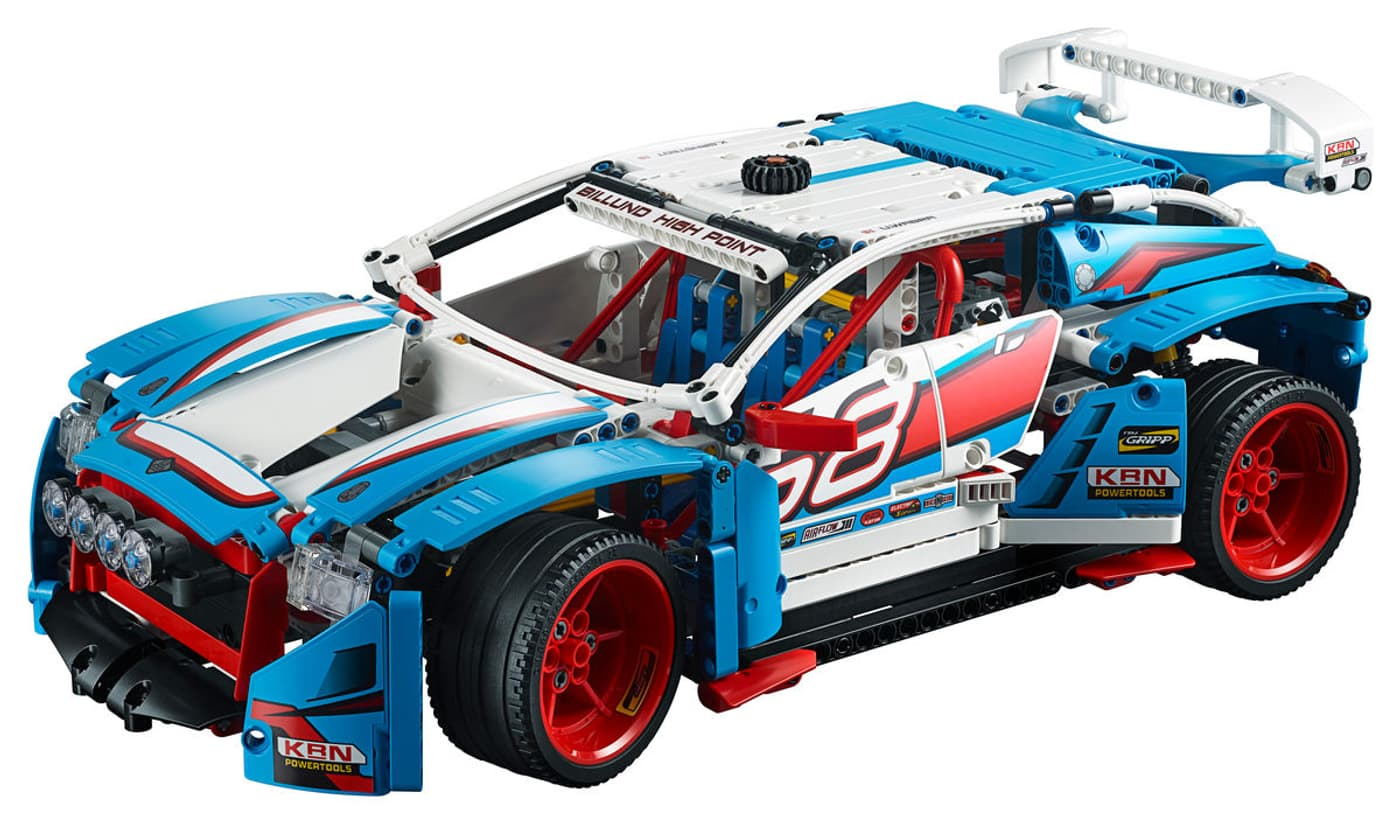 lego technic la voiture de rallye 42077 migros. Black Bedroom Furniture Sets. Home Design Ideas