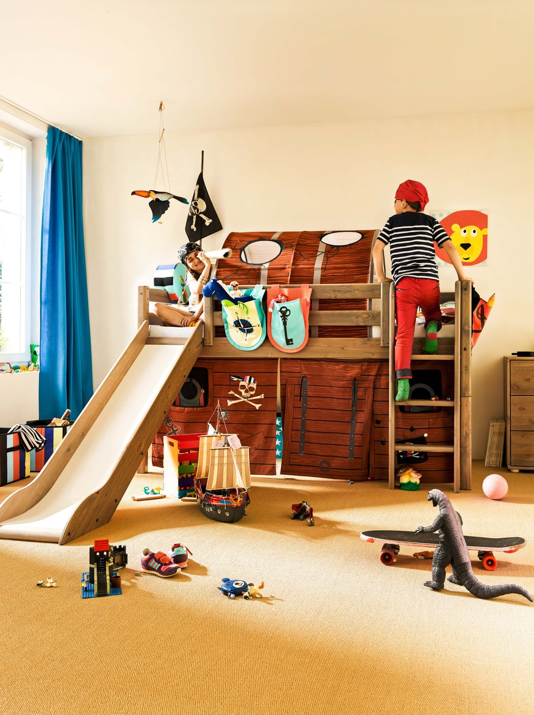 flexa flexa boxen 2er set pirat migros. Black Bedroom Furniture Sets. Home Design Ideas
