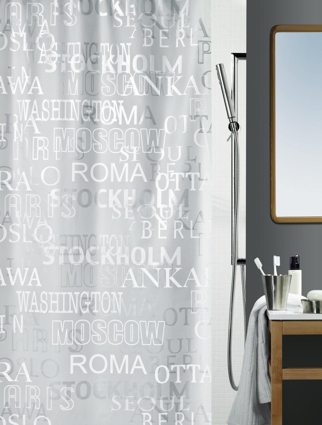 spirella duschvorhang cities migros. Black Bedroom Furniture Sets. Home Design Ideas