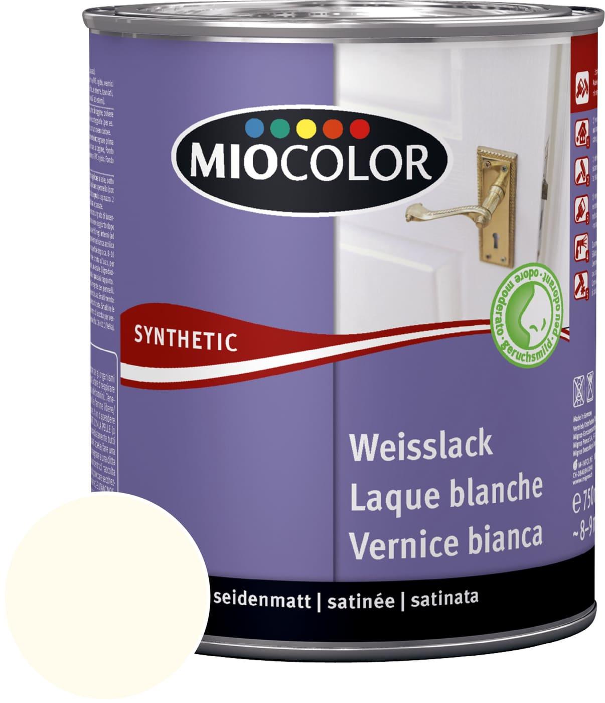 Pittura Resistente Ai Graffi miocolor vernice sintetica bianca satinata opaca bianco vecchio 750 ml