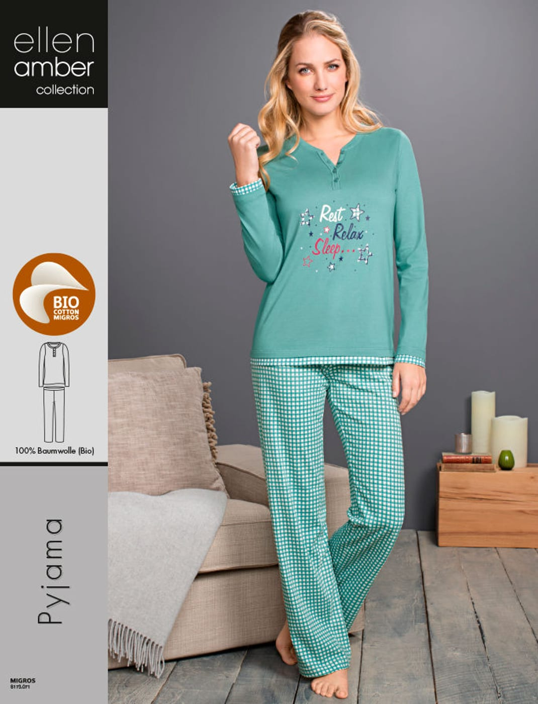 huge discount 4aaae 0c5a3 Damen Pyjama laguna