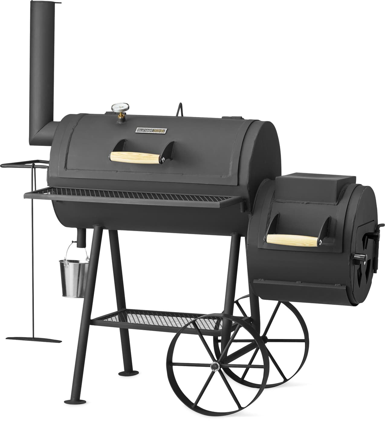 sunset bbq buffalo bbq smoker 16 migros. Black Bedroom Furniture Sets. Home Design Ideas