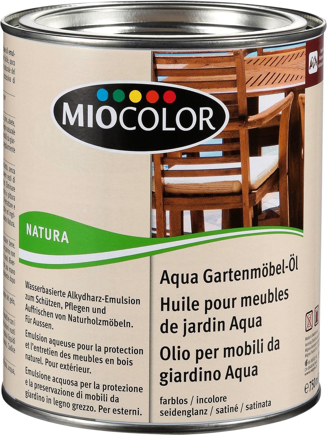 Miocolor Aqua Huile Meubles De Jardin Incolore 750 Ml Migros