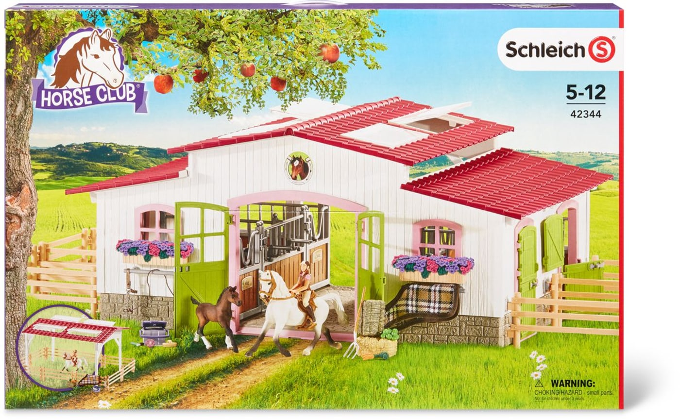 schleich centre questre avec cavali re et chevaux migros. Black Bedroom Furniture Sets. Home Design Ideas