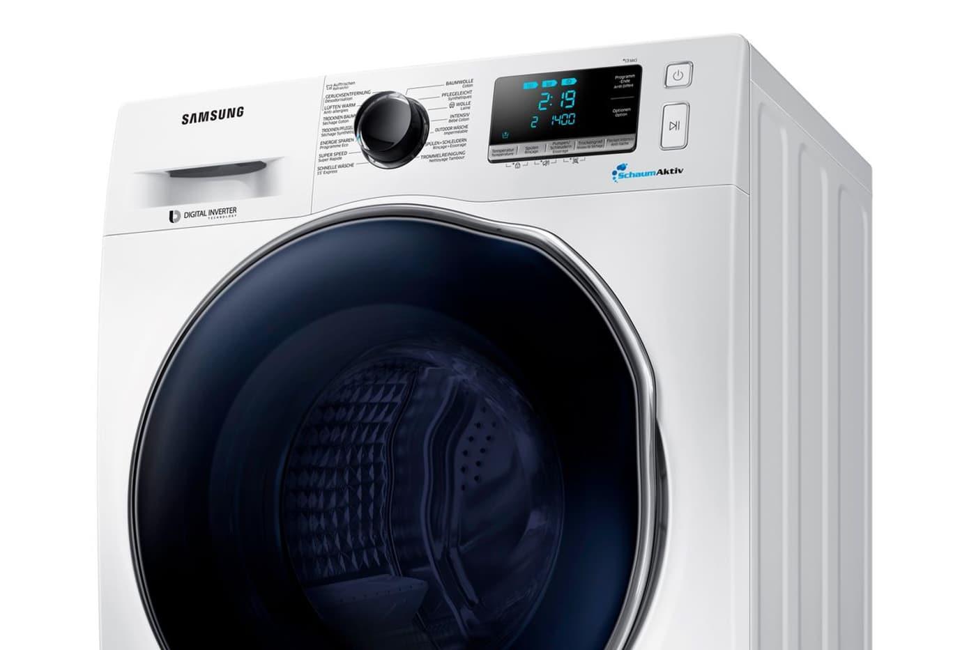Samsung Waschtrockner WD5000 WD70J5A00AW//EG 7 kg//4 kg 1400 U//Min SchaumAktiv  A