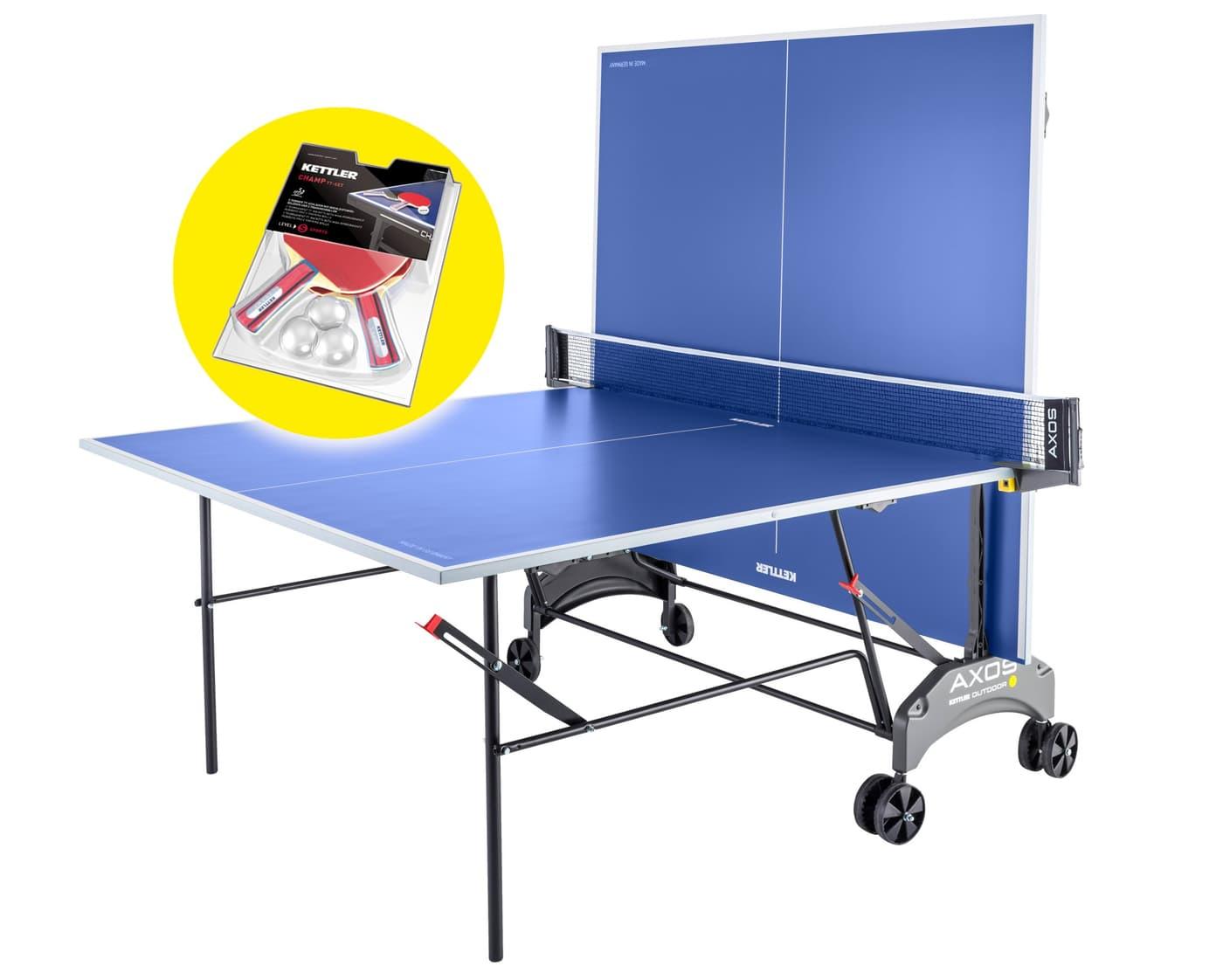 03e21910be8e7 Kettler Axos Outdoor 1 + Paddle Set Table de tennis de table