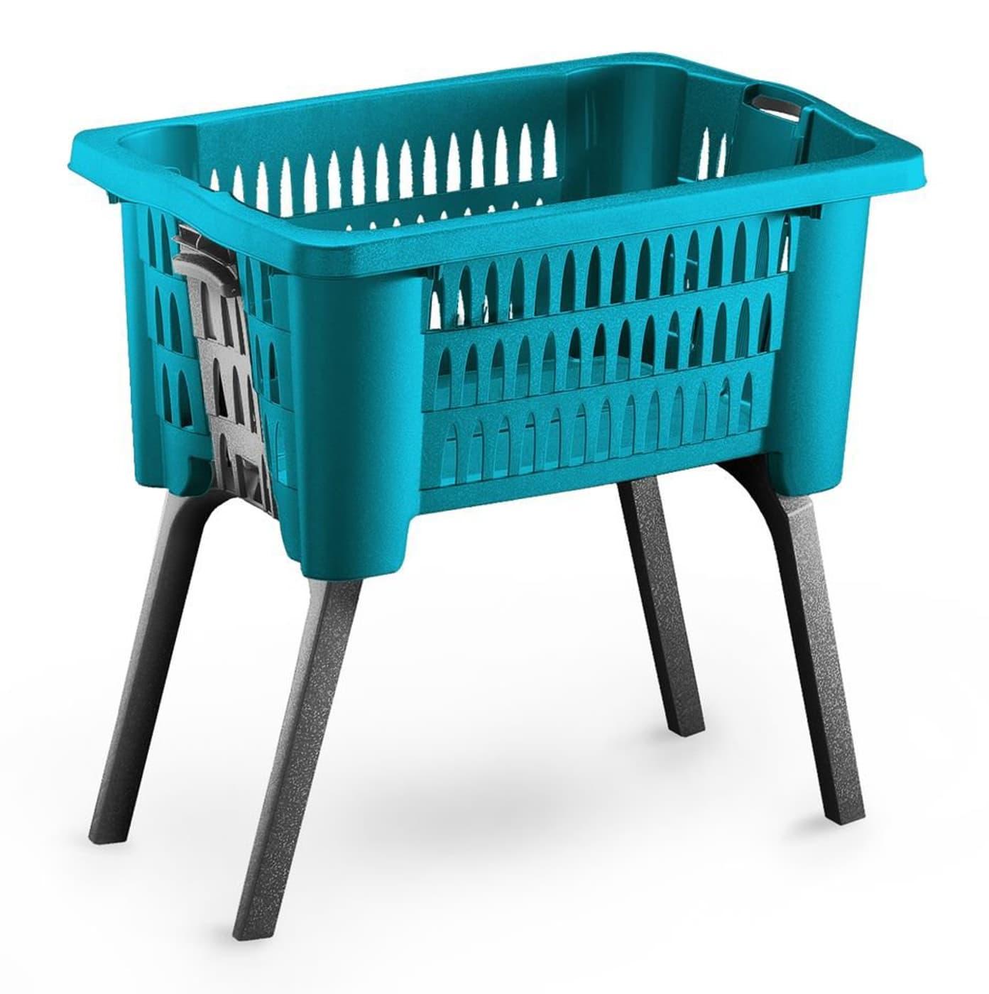 Wäschekorb mit ausklappbaren Beinen petrol Migros ~ 01012028_Bauhaus Wäschekorb Mit Beinen