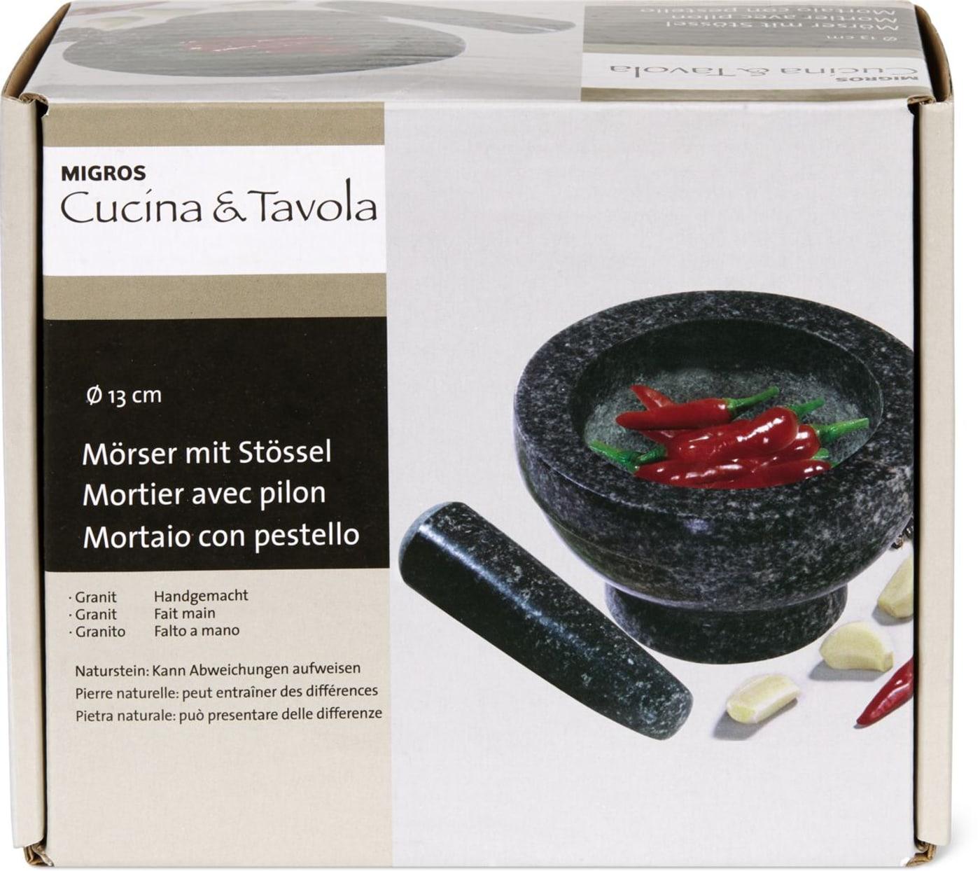 cucina tavola mortier avec pilon