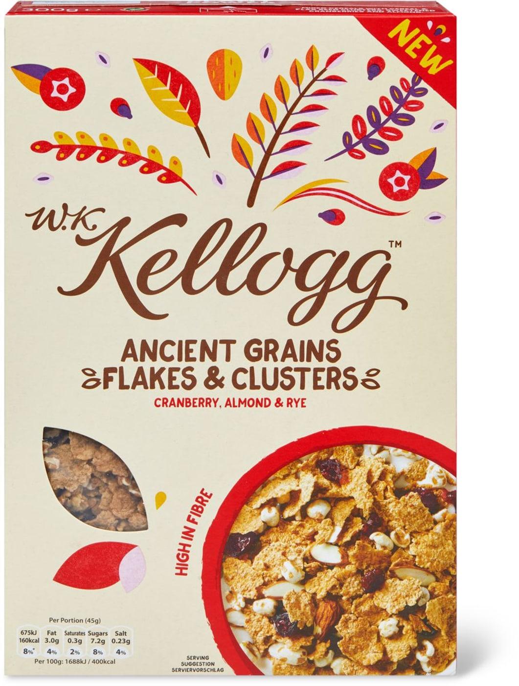 WK Kellogg Grains Flakes Clusters