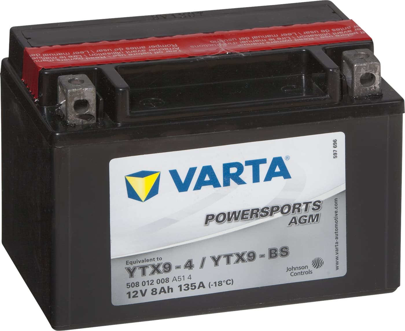 varta batterie moto ytx9 bs 12v 8ah 80a migros. Black Bedroom Furniture Sets. Home Design Ideas