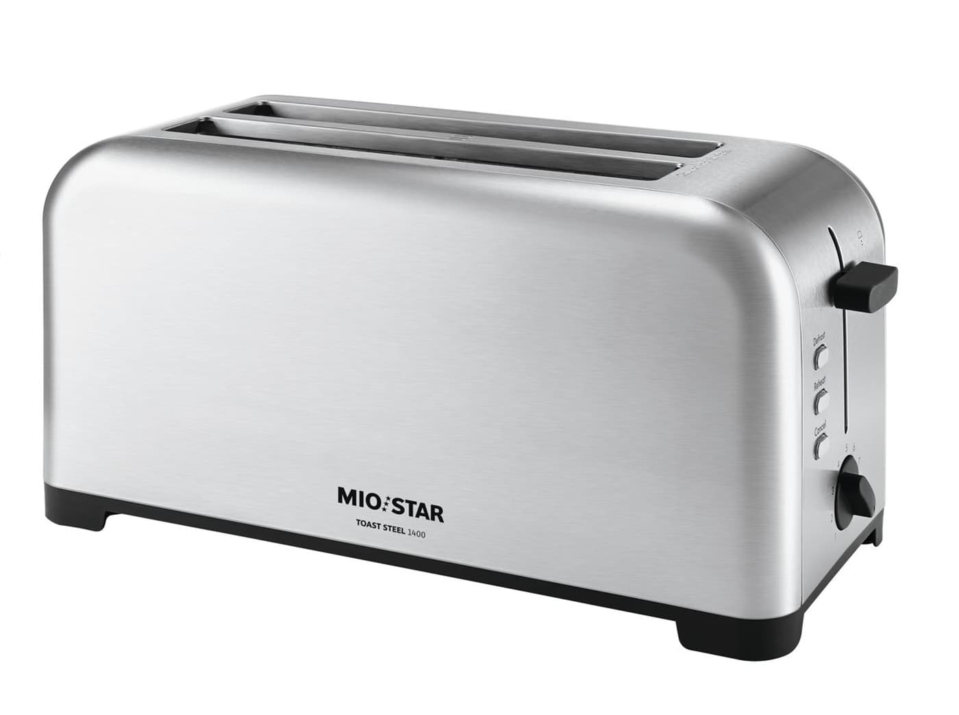 mio star toast steel 1400 4 scheiben toaster migros. Black Bedroom Furniture Sets. Home Design Ideas