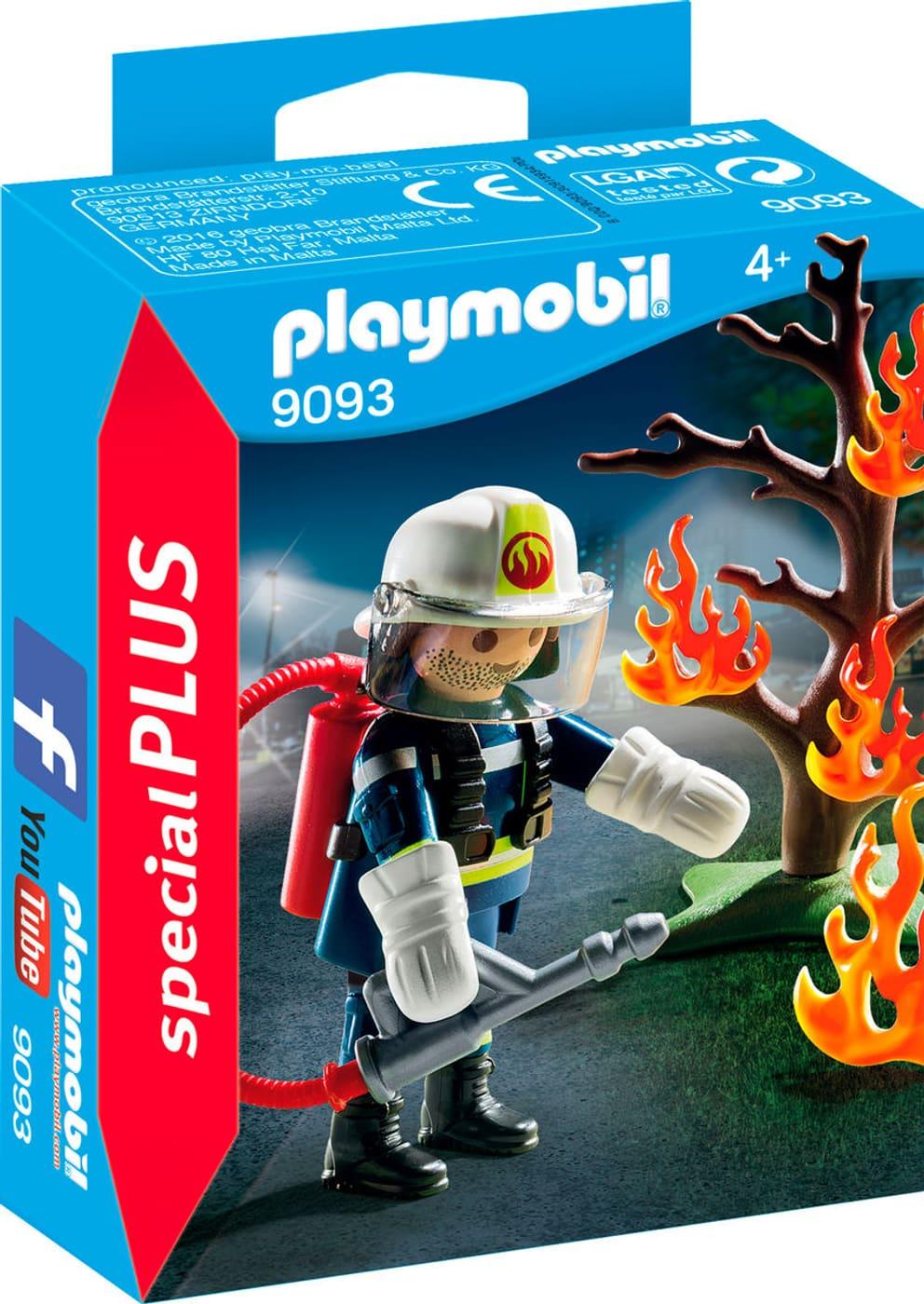 playmobil special plus pompier avec arbre en feu 9093 - Playmobil Pompier