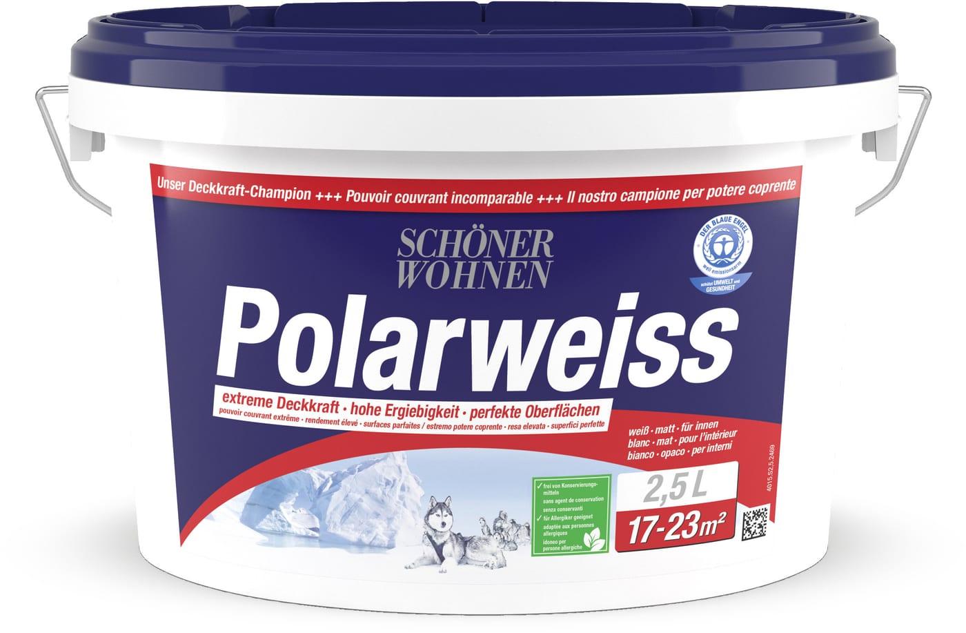 Schoner Wohnen Dispersion Polarweiss Weiss 2 5 L Migros