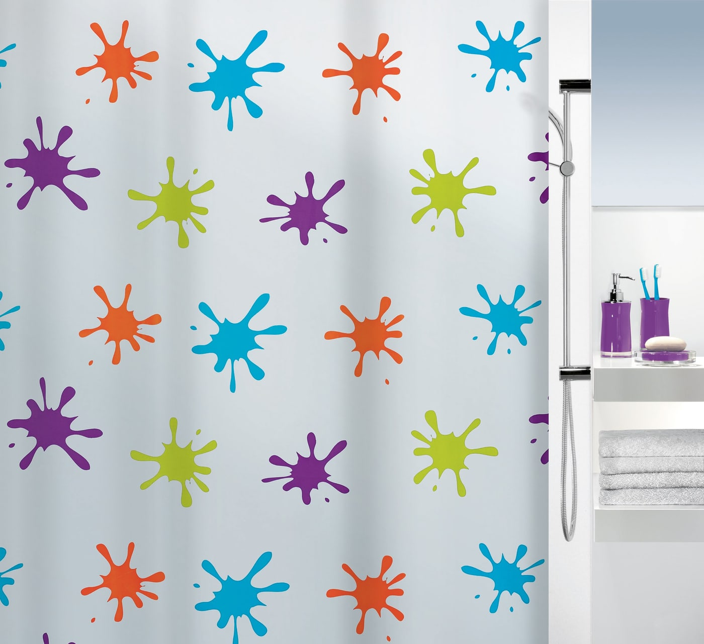 spirella duschvorhang splash migros. Black Bedroom Furniture Sets. Home Design Ideas