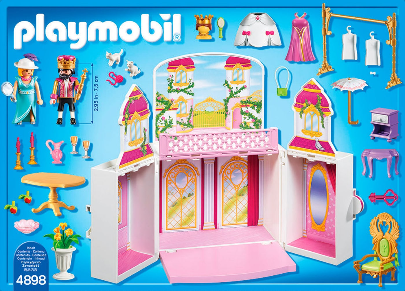 playmobil princess coffre cour royale 4898 migros. Black Bedroom Furniture Sets. Home Design Ideas