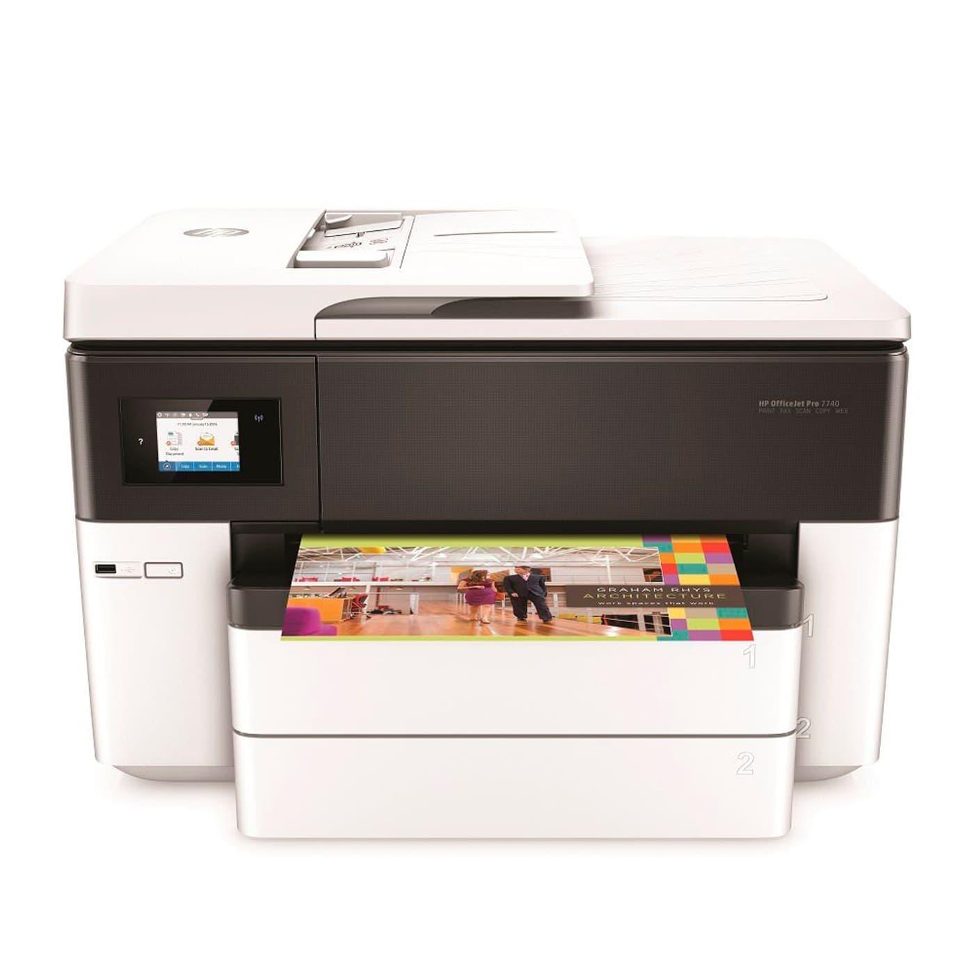 hp officejet pro 7740 aio a3 imprimante scanner copieur t l copie migros. Black Bedroom Furniture Sets. Home Design Ideas