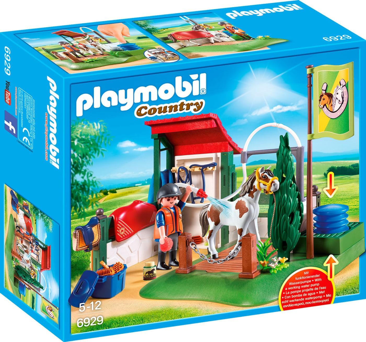 Playmobil country box de lavage pour chevaux 6929 migros - Douche pour chevaux playmobil ...