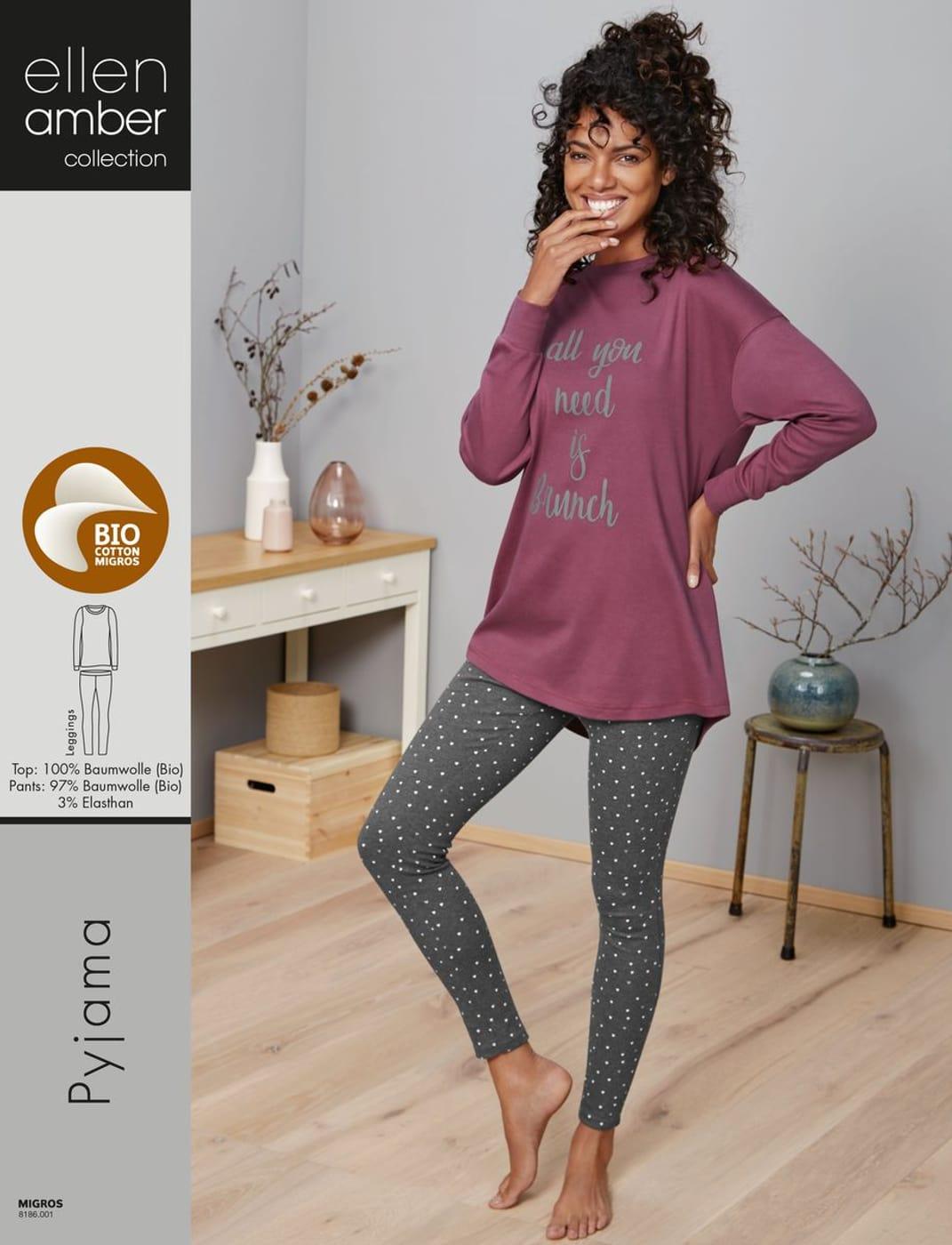 low priced 3c214 222c3 Damen Pyjama himbeer