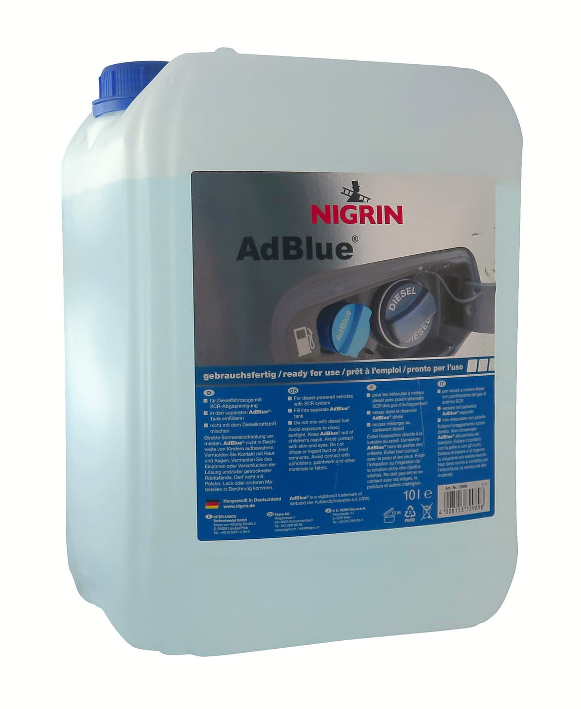 nigrin adblue 10l migros. Black Bedroom Furniture Sets. Home Design Ideas