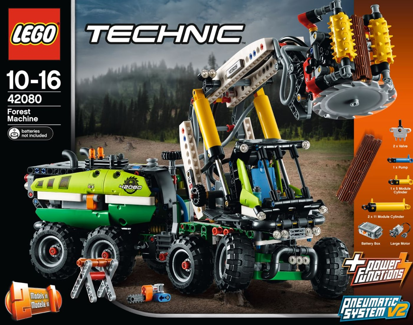 lego technic harvester forstmaschine 42080 migros. Black Bedroom Furniture Sets. Home Design Ideas