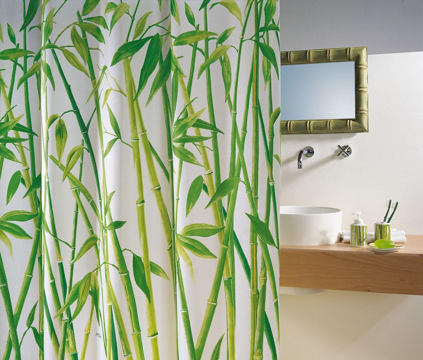 spirella duschvorhang bambus migros. Black Bedroom Furniture Sets. Home Design Ideas