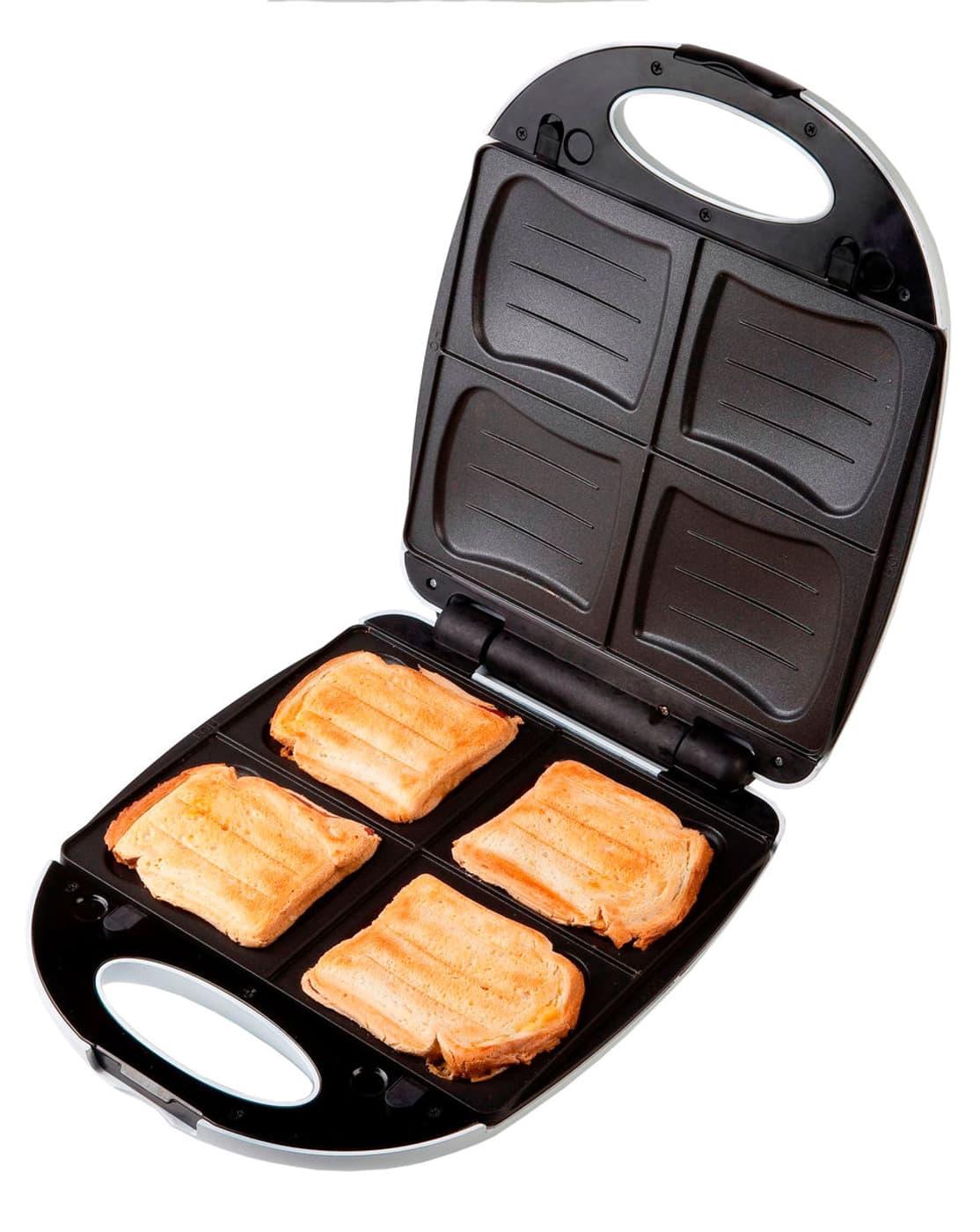 domo 4 sandwich maker do9046c inkl waffeleisen platten migros. Black Bedroom Furniture Sets. Home Design Ideas