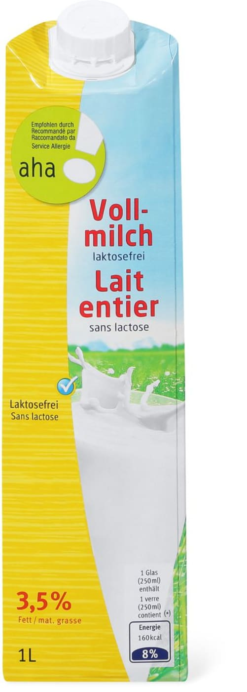 lait entier exempt lactose aha migros. Black Bedroom Furniture Sets. Home Design Ideas