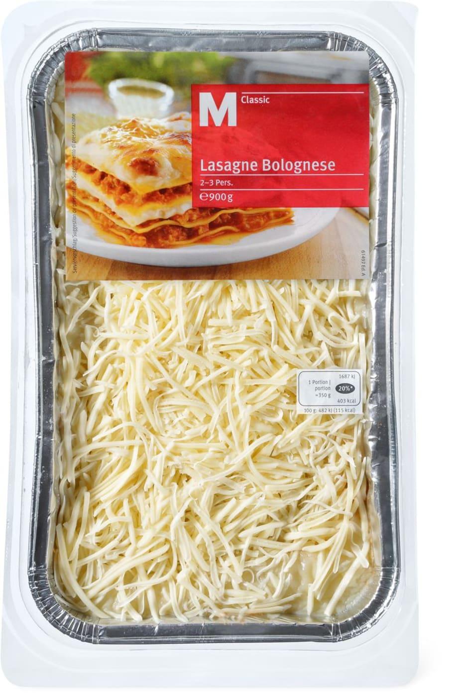 Classic Lasagne M Classic Lasagne Bolognese Migros