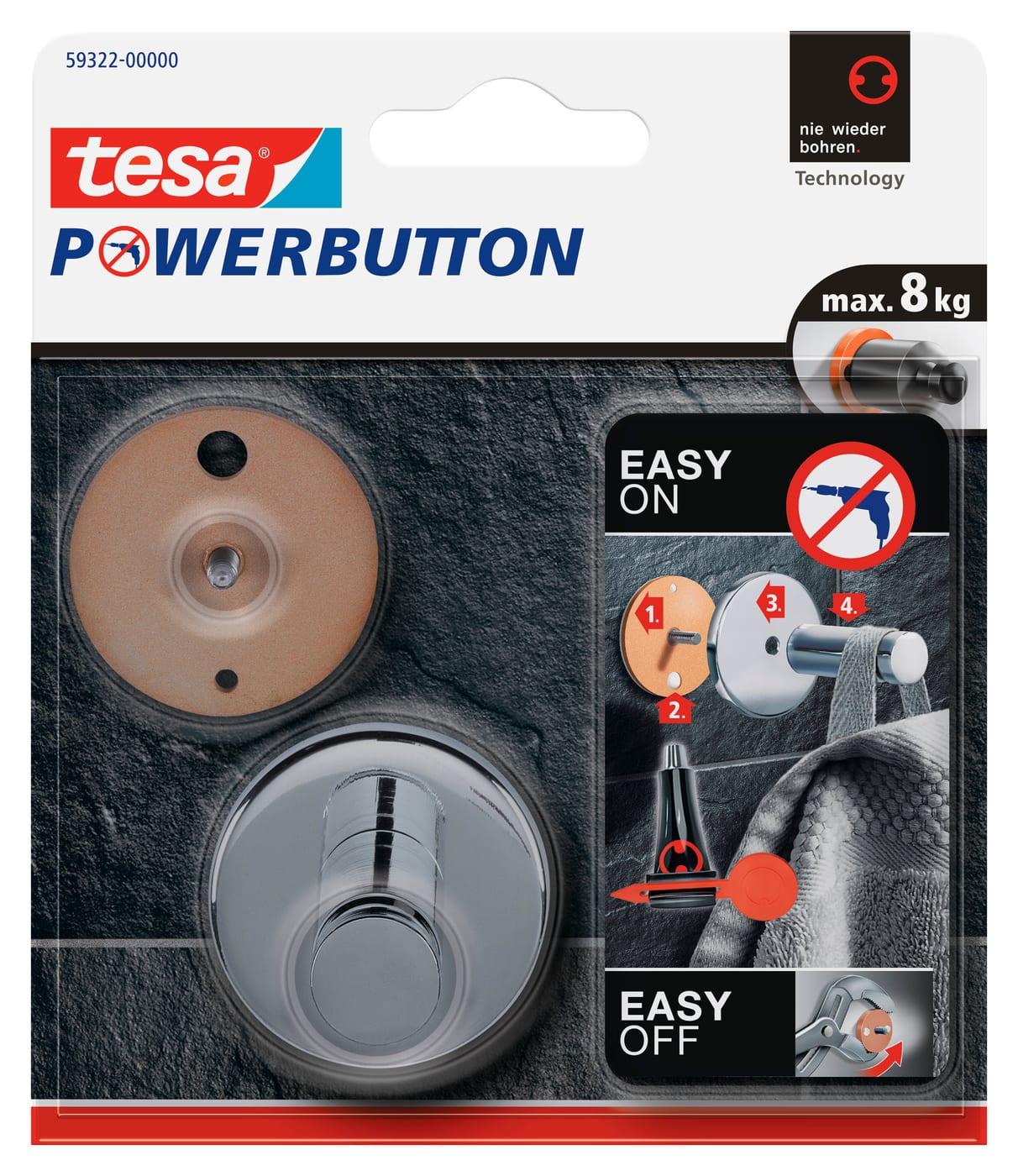 Tesa Powerbutton Haken Universal Large Migros