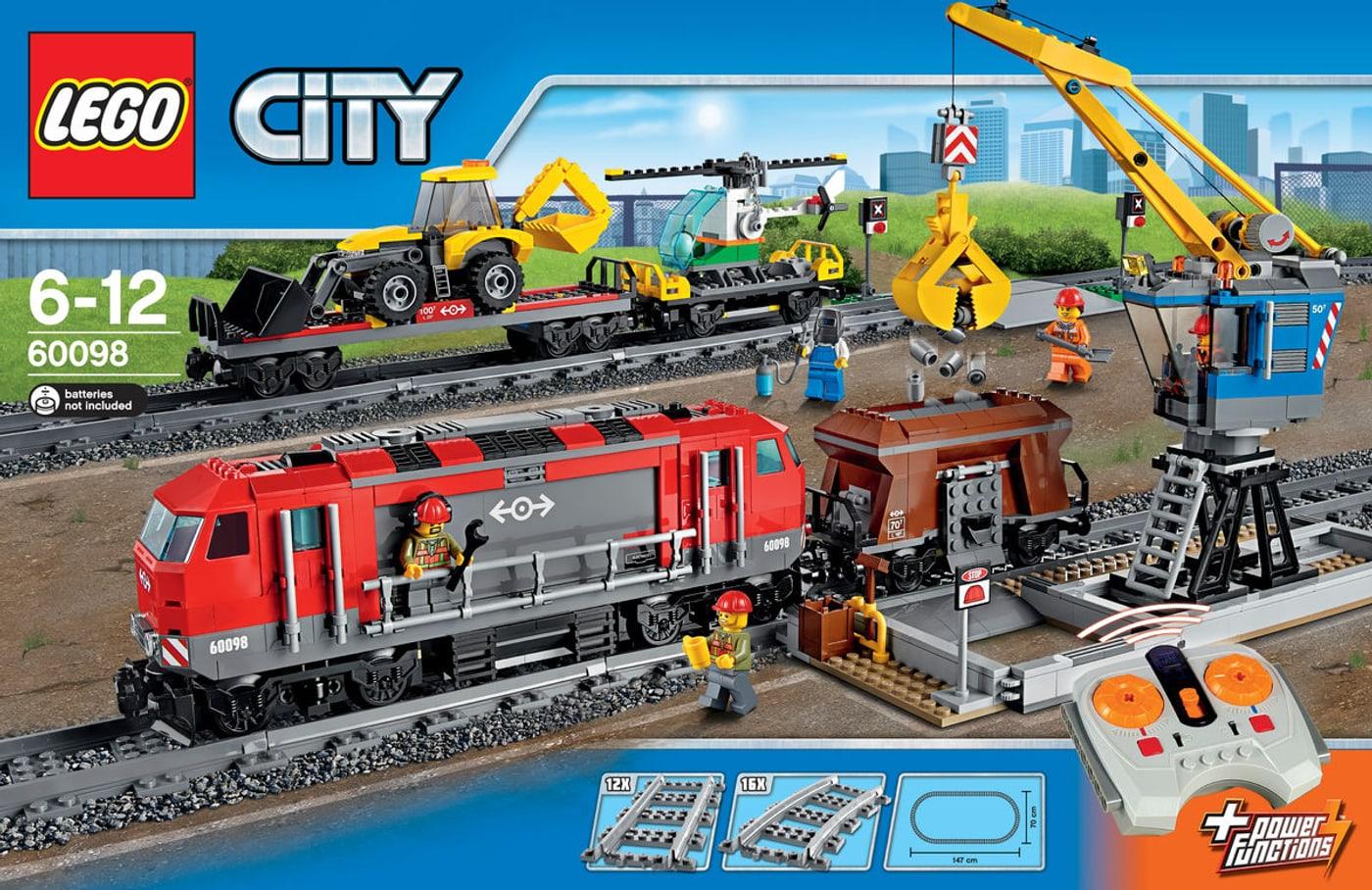 lego city le train de marchandises rouge 60098 migros. Black Bedroom Furniture Sets. Home Design Ideas
