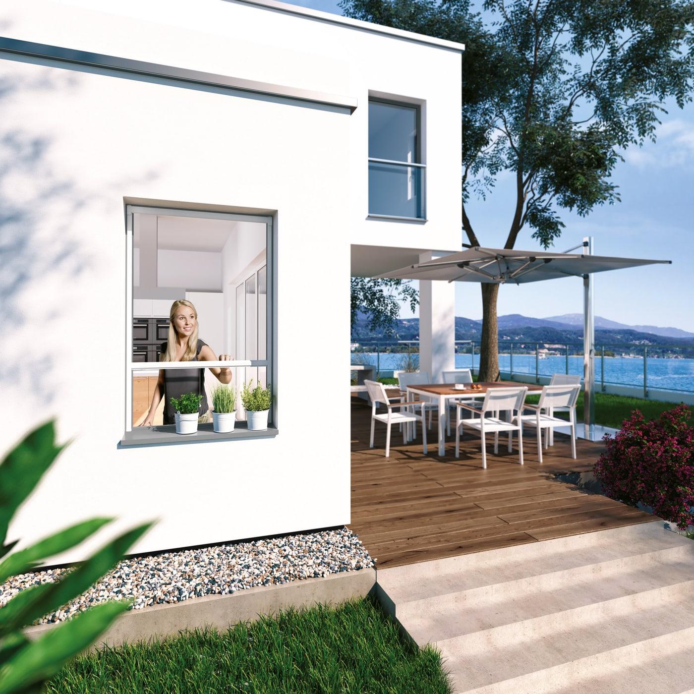 windhager insektenschutz rollo fenster 100x160cm alu migros. Black Bedroom Furniture Sets. Home Design Ideas