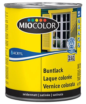 Laque acrylique colorée