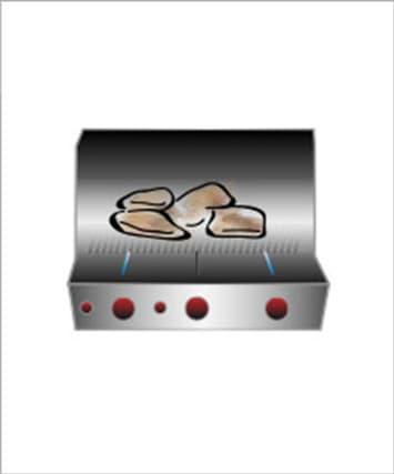 Barbecue direct avec gril à gaz et electrique