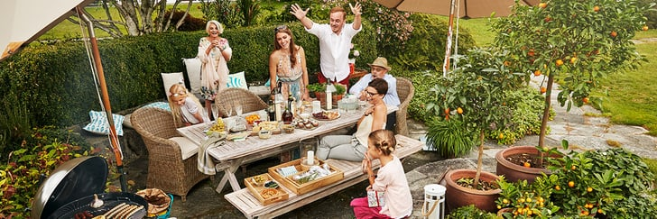 Garden-party avec barbecue