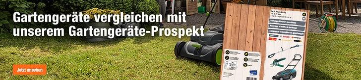 Gartengeräte vergleichen mit dem Gartengeräte-Prospekt