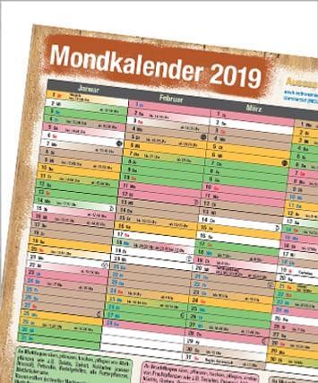 Mondkalender 2019
