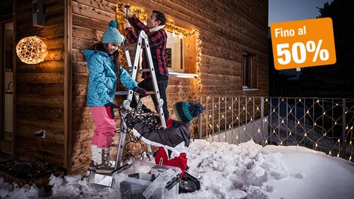 Crea un'atmosfera festosa con la giusta illuminazione natalizia