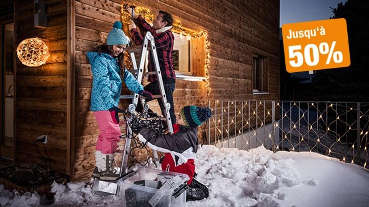 Créez une ambiance de fête avec l'éclairage de Noël adapté