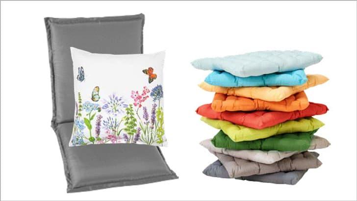 Kissen für Gartenmöbel