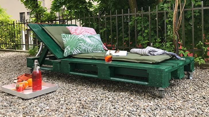 Blog: Recycler des palettes en chaise longue