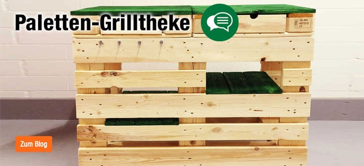 Paletten-Grilltheke