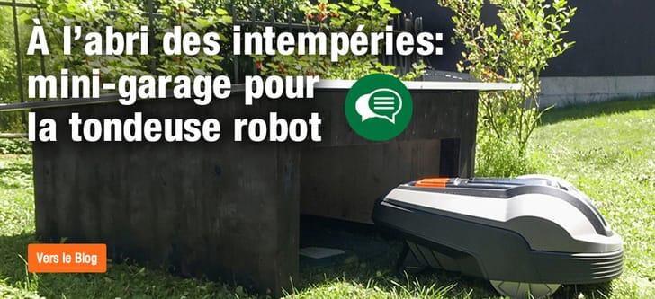 Un mini-garage pour la tondeuse robot