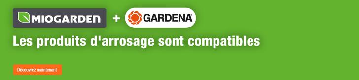 Miogarden+Gardena - les produits d'arrosage sont compatibles