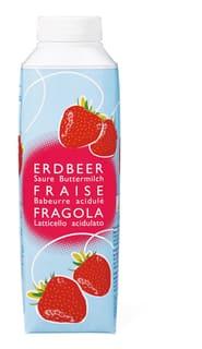Saure Buttermilch Erdbeer