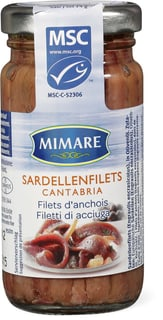Mimare MSC filets d'anchois Cantabria