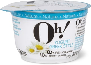 Oh! Yogurt Greek style Nature